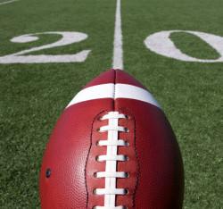 Football above the Twenty Yard Line