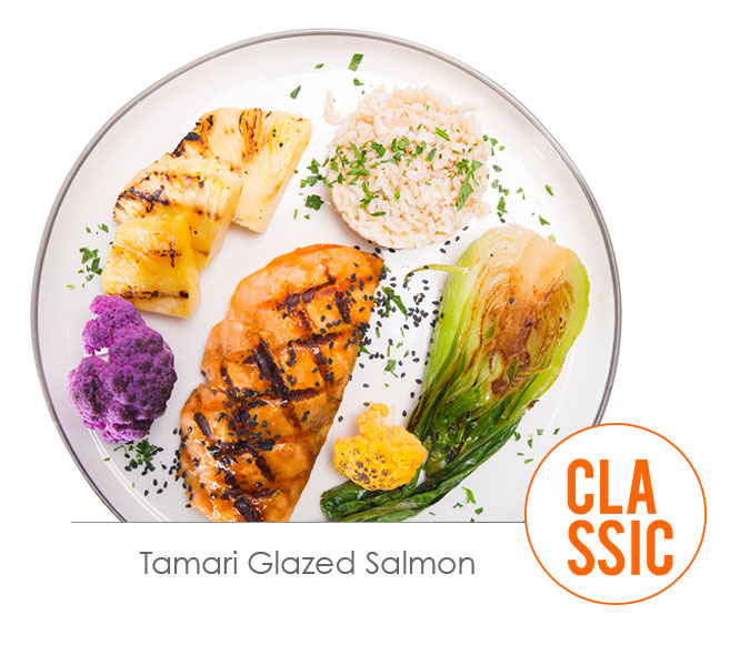 tamari glazed salmon