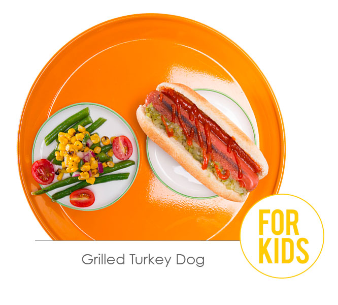 grilled turkey dog