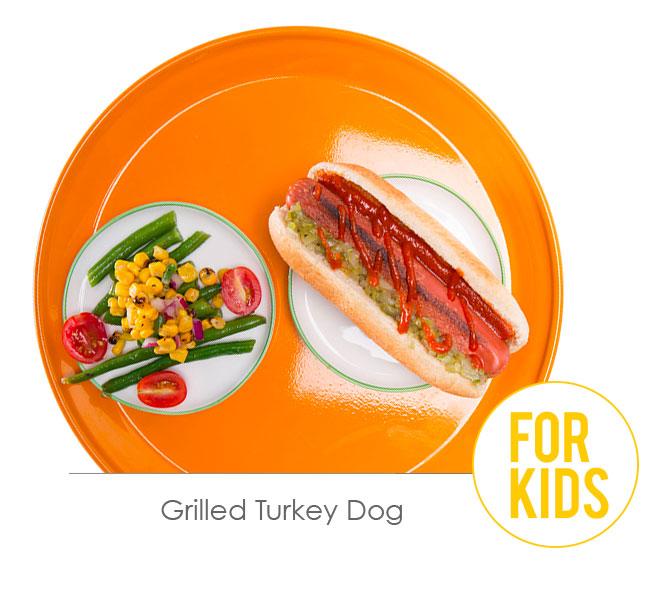 grilled turkey dog
