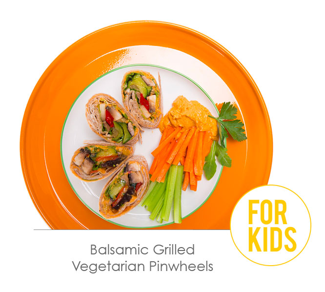 balsamic grilled vegetarian pinwheels