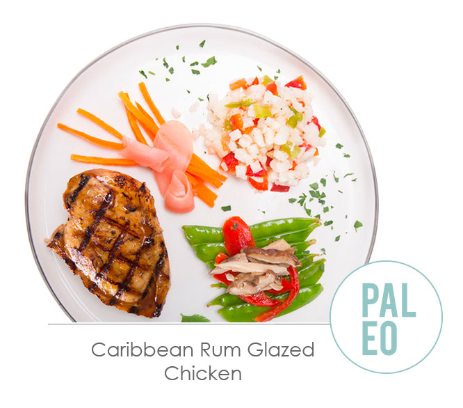 caribbean rum glazed chicken