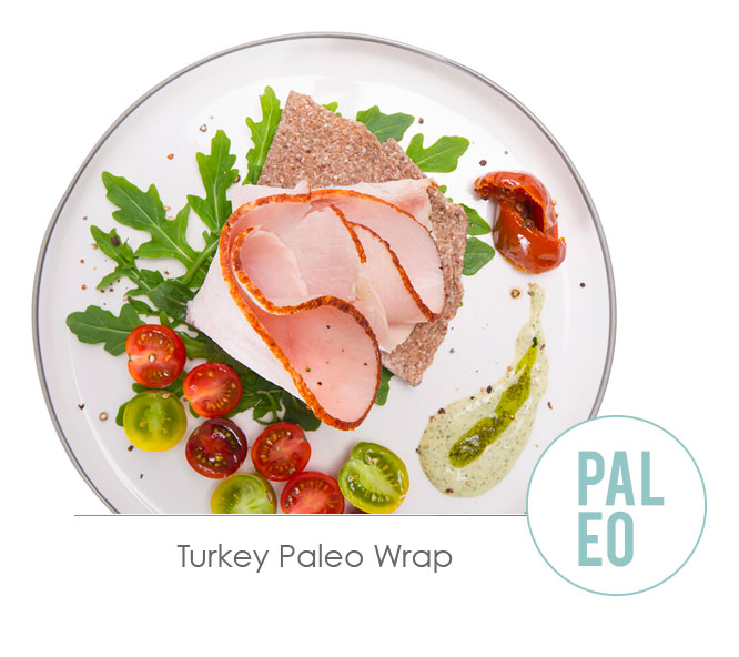 turkey paleo wrap