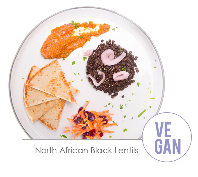 north african black lentils