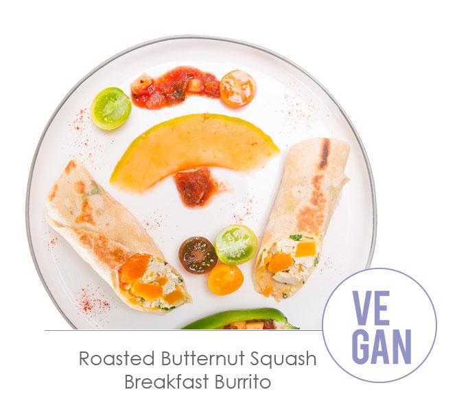 roasted butternut squash brakfast burrito