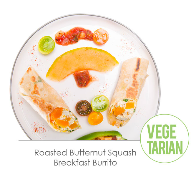 roasted butternut squash breakfast burrito