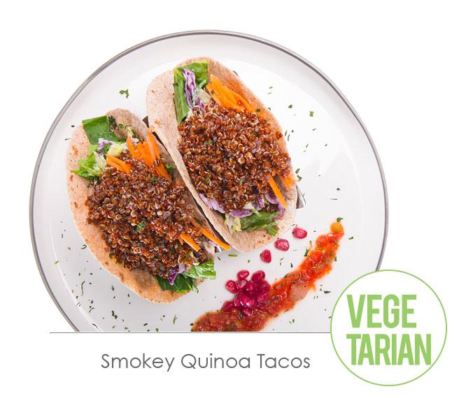 smokey quinoa tacos